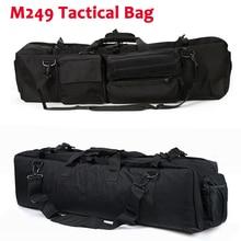 Bolsa de pistola táctica M249, funda de nailon, funda para Rifle de Paintball para caza al aire libre, mochila multifunción