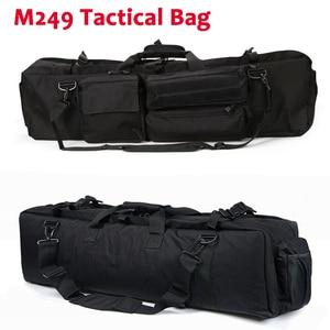 Image 1 - M249 التكتيكية بندقية حقيبة النايلون الحافظة الصيد Airsoft الألوان حقيبة بندقية في الهواء الطلق حقيبة صيد متعددة الوظائف على ظهره