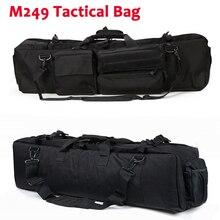 M249 Tattico della Pistola del Sacchetto di Nylon Holster Caccia di Paintball del Airsoft Cassa Del Fucile di Caccia Esterna Multi funzione Zaino