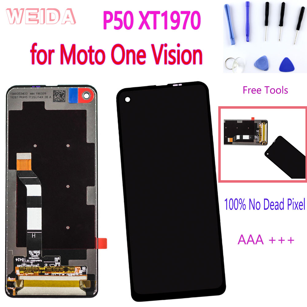 6.3'' Original LCD For Motorola Moto One Vision P50 XT1970 LCD Display Touch Screen Digitizer Assembly No Dead Pixel