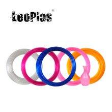 Leopolas 1.75mm 10 e 20 medidores flexível macio clara amostra de filamento tpu para impressão de impressora 3d suprimentos material de borracha
