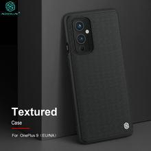 Dla OnePlus 9 Case EU NA wersja teksturowana tkactwo Nylon fibre ochronna PC tylna pokrywa OnePlus9 w CN NILLKIN