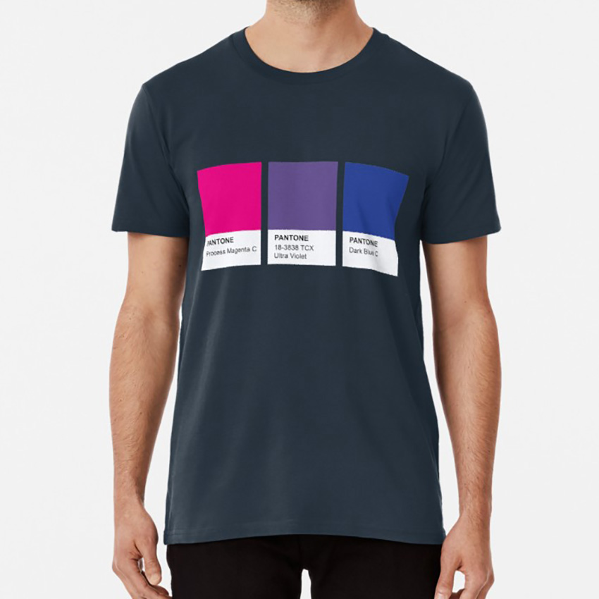 Lgbt Color Pantone Pallete <font><b>Bisexual</b></font> Community Design <font><b>T</b></font> <font><b>Shirt</b></font> <font><b>Bisexual</b></font> Lesbian Gay Transgender Community Pride image