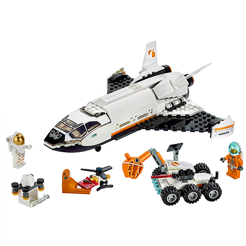 273pcs Lepining City Space Series Technology Marss Research Shuttle Building Blocks Bricks Children's Christmas Toy Gift 60226