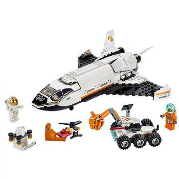 Bloques de construcción de la serie espacial de la ciudad de Lepining, tecnología Marss, nuevo cobertizo de bloques de construcción, juguete para regalo de Navidad para niños 273 Uds.