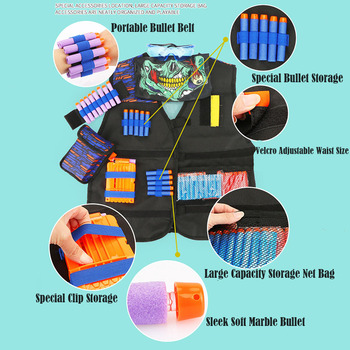 Suits for Nerf Gun Accessories Tactical Equipment Gun Shuttle Bullet Bullet Clip Compatible for Nerf Gun Child Outdoor X max Toy worker f10555 no 152 stf type b set professional toy gun accessories for nerf stryfe black