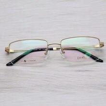 Montura De gafas De titanio puro para hombre, Lentes transparentes De diseñador, graduadas, con relleno