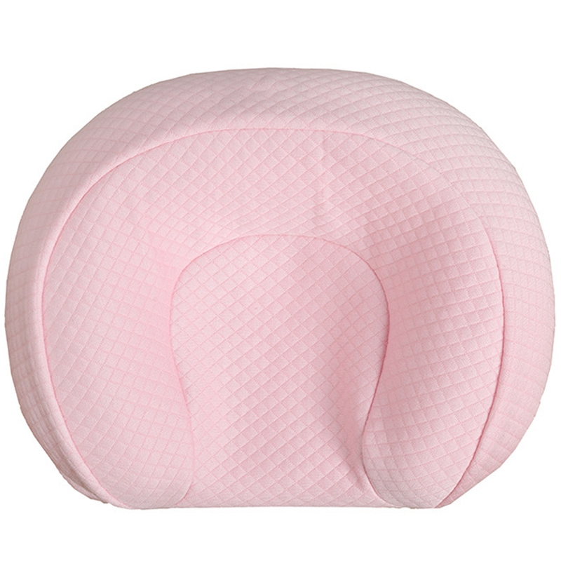 Baby Shaped Pillow Multi-Function Bed Positioning Pillow Baby Sleeping Pillow Anti-Heading Pillow For 0-12 Months-Pink