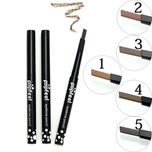 Popfeel 5 Colors Automatic Waterproof  Eyebrow Pencil Long Lasting Eyeliner Eye Brow Pen Make Up Beauty Tools TSLM2 5 colors eyebrow pencil with tearing thread long lasting natural brow pencil cosmetics brow eye liner make up tool