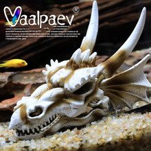 Simulation Dragon Dinosaur Skull Resin Sinking Action Figure for Fish Tank Landscaping Hiding House Decoration Toys Accessories