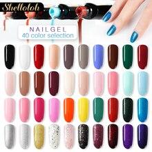 Shelloloh 20/40 Pcs Gel Polish Nail Set For Nail Art Soak Off Varnish Gel Polish Colorful UV Nail Gel Set For Nails Kit недорого