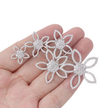 WEIMANJINGDIAN 2021 New Arrival Shinning Cubic Zirconia CZ Crystal Micro-pave Flowers Brooch Pins for Women or Wedding