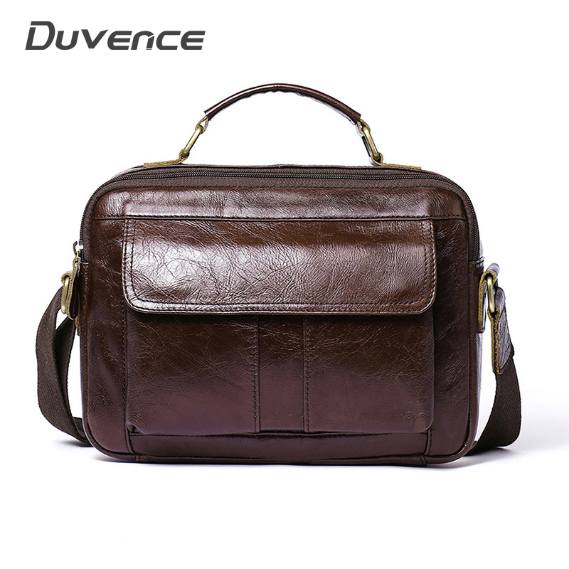 Vintage Men's Shoulder Bags Casual Men Briefcases Bag Large Travel Man Messenger Bag Genuine Leather Handbags For Man Briefcases