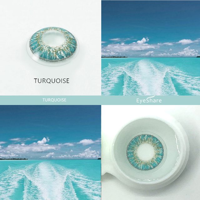 EYESHARE- 2pcs 3 Tone Brilliant Color Series Colored Contact Lenses  for Eyes Colored Eye Lenses Color Contacts 5
