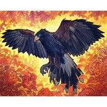 Diy картина по номерам с мультипликационным принтом в виде феникса