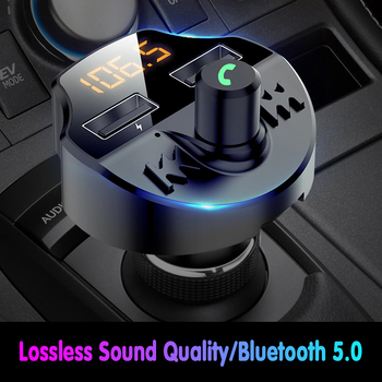 Bluetooth Audio Handsfree Wireless Bluetooth Car Kit FM Transmitter Radio MP3 Player USB Charger Car Electronics Accessories image