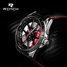 RIMCH Sport Uhren für Männer Luxus Leder Uhr Mode Kühlen Felgen Design Wasserdichte 3D DR-CI räder Uhren
