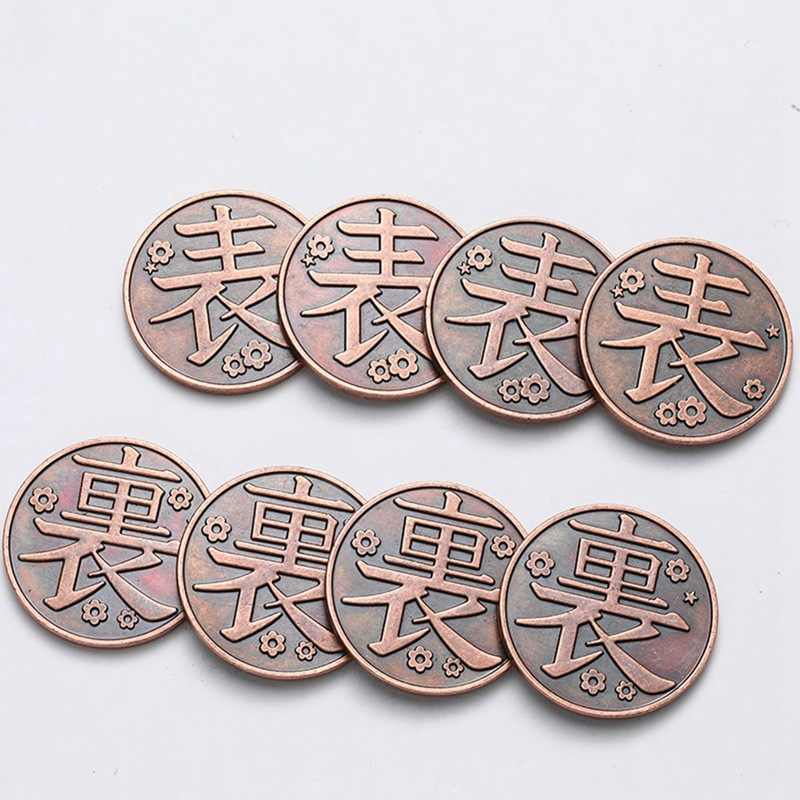 Anime Demon Slayer Coin Kimetsu Geen Yaiba Cosplay Props Tanjirou Nezuko Verzamelen Rode Koperen Munten Tokens Fancy Gift