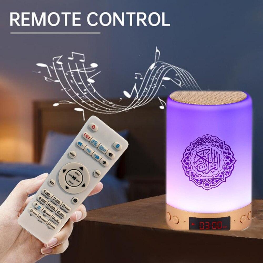 Azan islâmicos alcorão alto-falante luz da noite mp3 coran player alcorão lâmpada com cartão de memória 16g veilleuse coranique