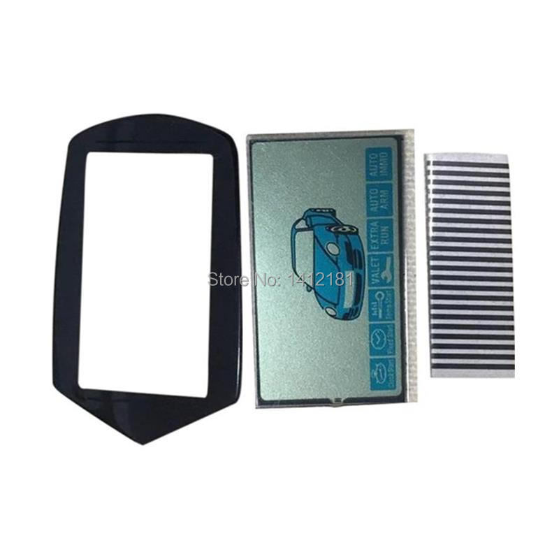 10pcs/lot B9 Flexible Cable LCD Display+ Keychain Glass Case For Starline B9 / KGB FX-7 FX7 FX 7 Lcd Remote Control Zebra Stripe