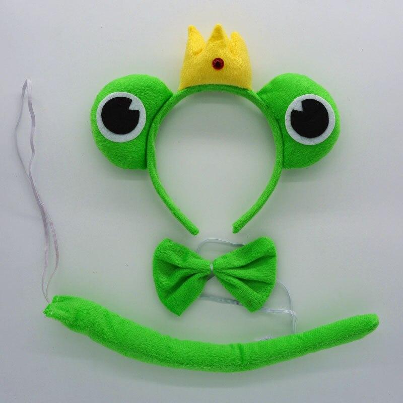 Детская повязка на голову с ушками животных для мальчиков и девочек; комплект с галстуком-бабочкой и хвостом для детей и взрослых; карнавальный костюм; вечерние аксессуары для волос - Цвет: 25