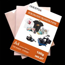 Heat-Transfer Photo-Paper Sublimation Inkjet-Printing A4 100GSM A3 20/100-Sheets-Per-Lot