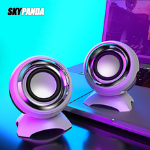 USB AUX Wired Mini Computer Speakers Bass Stereo Speaker for Laptop Desktop Phone 6W Powerful Audio Multimedia Loudspeaker