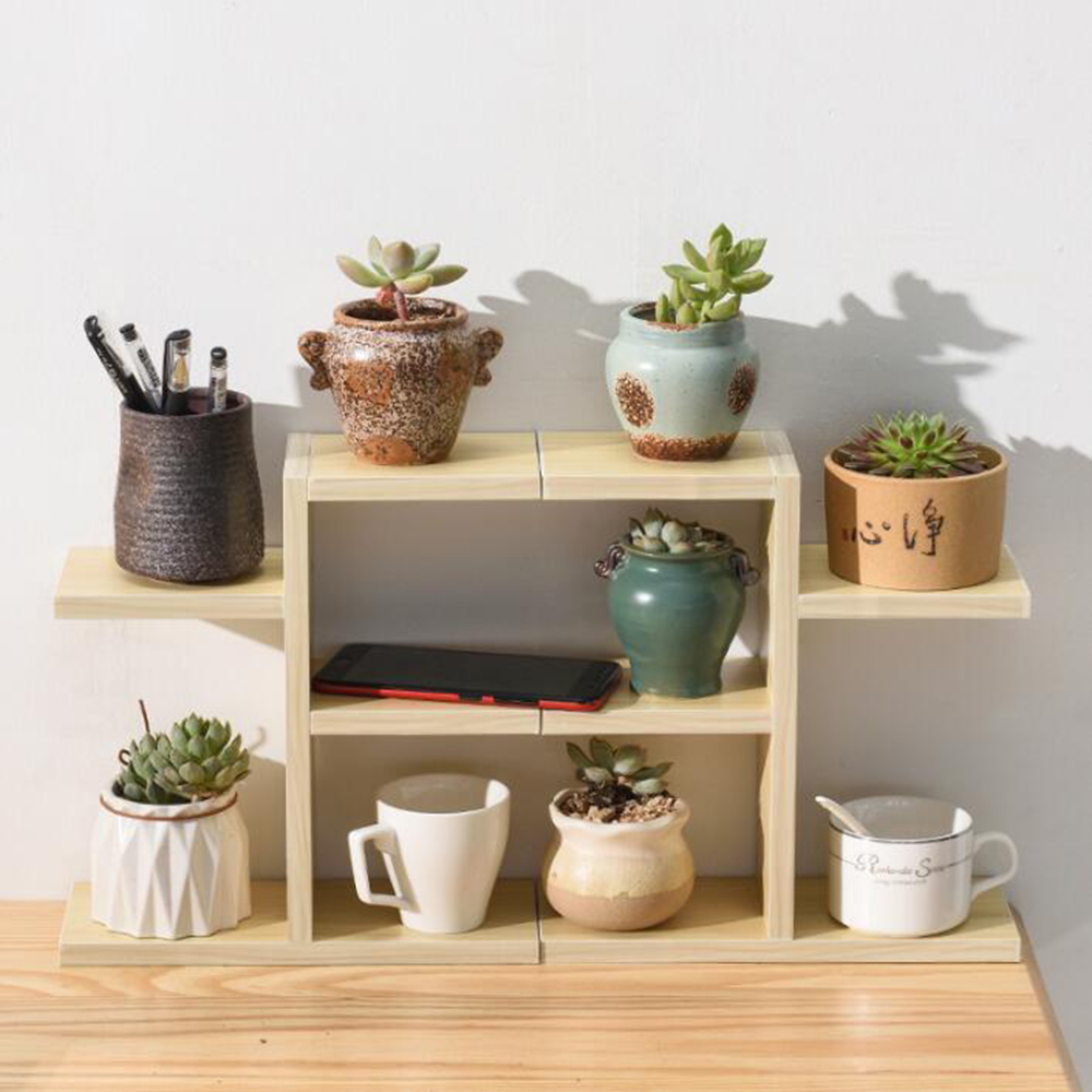 Wooden Flower Rack Plant Stand Multi Flower Stand Shelves Bonsai Display Shelf Yard Garden Patio Balcony Flower Stands