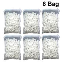 6 Packs Filter Media Zipper with Mesh Bag Bio Porous Prime Bio Ball Ceramic Ring Filter Media for Fish Tank Koi Pond Aquarium(China)