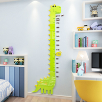 Cartoon Dinosaur height sticker Baby height self adhesive wall sticker Children's room wall decoration acrylic Height ruler
