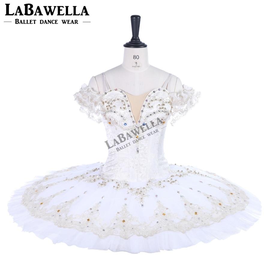 white variation classical Professional ballet tutu dress for girls women beige ballet tutus dance costumeBT9259