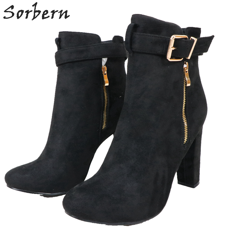 Sorbern Classical Black Ankle Booties