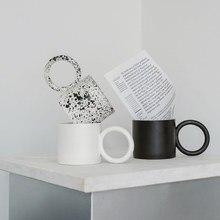 Criativo grande redondo handgrip cerâmica canecas caneca de café leite chá escritório copos drinkware o melhor presente de aniversário