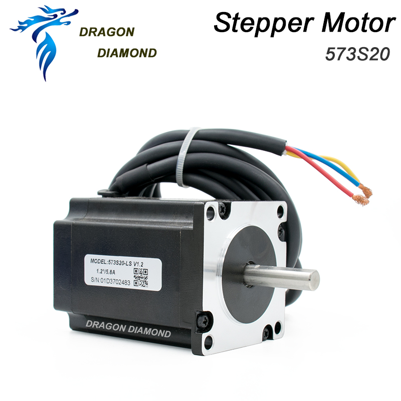 Nema 23 Leadshine 5.8A 3 Phase Stepper Motor 573S20 For CO2 Laser Engraving Cutting Machine