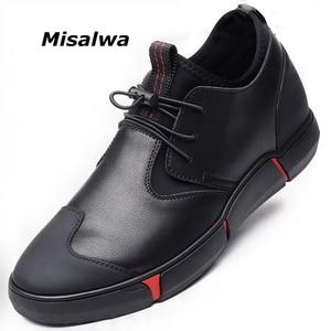 Image 1 - Misalwa 5CM / 7 CM גובה להגדיל פיצול עור גברים מעלית נעלי יומי מקרית Sneaker אופנה נוח התאמה גברים נעליים