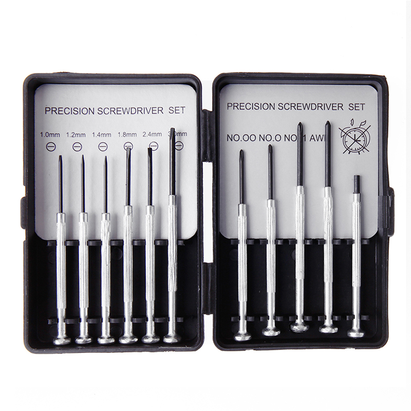 New 11Pcs Jewelers Micro Screwdriver Set Precision Watch Jewelry Glasses Repairs Drop Ship