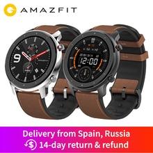 Из России- Amazfit GTR 47 мм gps Смарт-часы Мужские 5ATM водонепроницаемые Смарт-часы 24 дня батарея AMOLED экран 12 спортивных режимов- Используйте промо-код GTRRU10