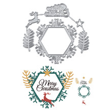 Eastshape Merry Christmas Deer Dies Metal Cutting for Card Making Scrapbooking Embossing Cuts Stencil Craft