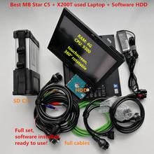 Полное программное обеспечение,12 Das/X/WIS/Vediam X201T I7 4G MB STAR C5 SD Подключение компактный 5 диагностический инструмент с wifi для MB автомобилей и грузовиков
