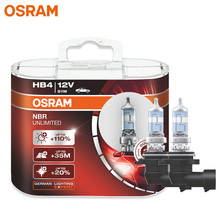 Osram HB4 Night Breaker Onbeperkt Heldere Witte Auto Koplamp Mistlampen Echt Halogeen Lamp 9006NBU P22d 12V 51W (Paar)