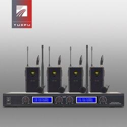 YUEPU RU-8400 Professional UHF adjustable selectable Wireless Handheld Microphone System 4 Channels