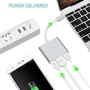 Image 5 - Type C USB 3.1 to USB C 4K HDMI USB 3.0 Adapter Cable 3 in 1 Hub For Macbook Pro