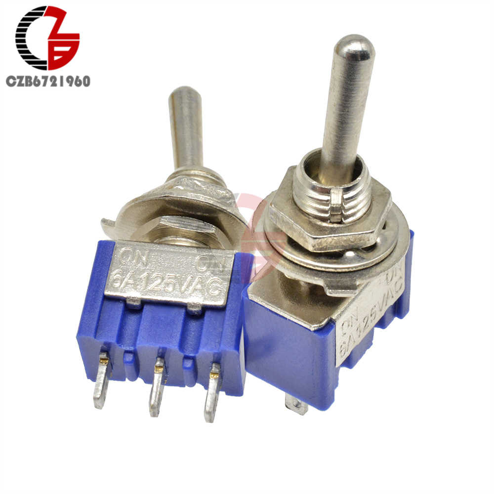 MTS-102 Interruttore A Levetta 13*8MM- 3Pin On-Off Interruttore di Rame Contattore 125V 6A 250V 3A