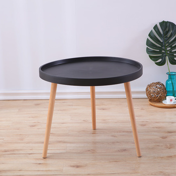 Coffee table basse sofa side table plastic top wooden legs bed table living room round small table loft furniture Balcony table