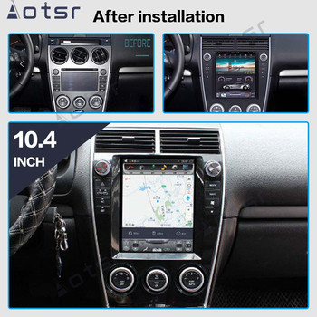 Tesla screen Style Android PX6 For Mazda 6 2002-15 Car Multimedia Player No DVD Stereo Audio Radio Car GPS Navigation Head unit