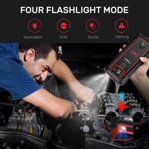 YABER 2500A 23800mAh Auto Starthilfe 10W drahtlose ladegerät Auto Batterie Power Bank mit LCD Bildschirm LED Taschenlampe sicherheit Hammer Starthilfe    -