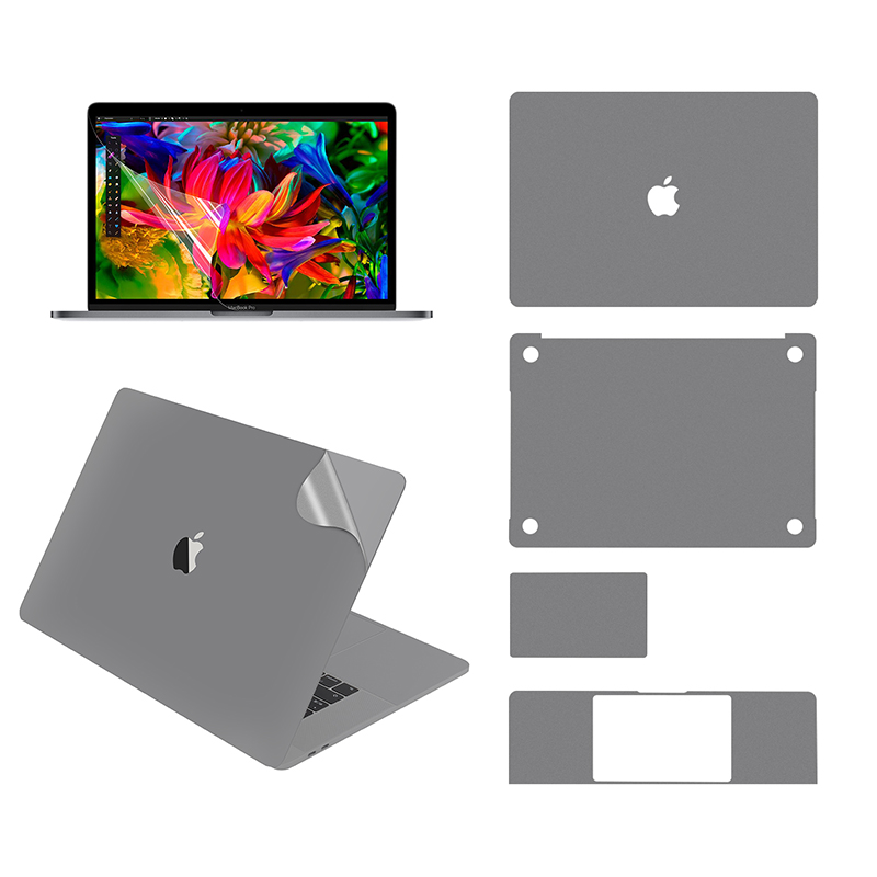 Full Body Skin For MacBook Pro 15 Inch Model A1707/A1990, With Top Skin , Bottom Skin, Touchpad Skin, Palm Rest Skin,Screen Film