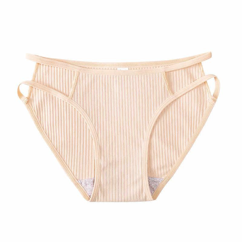 3 Stks/partij Katoen Panty Effen Vrouwen Slipje Comfort Ondergoed Huidvriendelijke Slips Voor Vrouwen Sexy Laagbouw panty Intimates