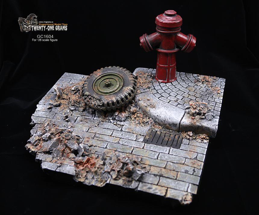 1/6 Solider Abbildung Szene Zubehör GC1604 Weltkrieg II Europäischen Straße Ruinen Modell Szene Plattform für 12 ''Action figur spielzeug