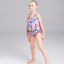 Girls Buoyancy Swimsuit Siamese Floral Baby Swimsuit Small Fresh Siamese Floating Swimsuit New